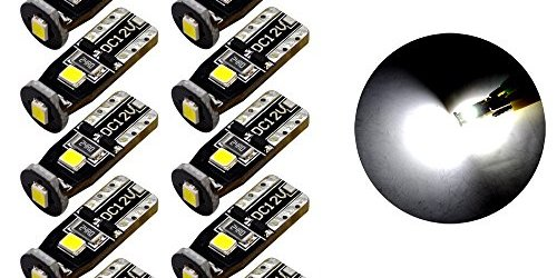 510ECqWIujL - SiriusLED Extremely Bright 3030 Chipset LED Bulbs for Car Interior Dome Map Door Courtesy License Plate Lights Compact Wedge T10 168 194 2825 Xenon White Pack of 10