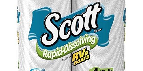 51 MRmuicuL - Scott Rapid-Dissolving Bath Tissue, Toilet Paper, 4 Rolls, Pack of 12