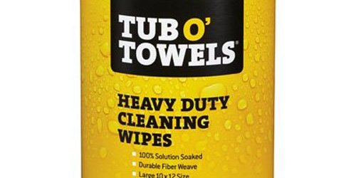 """51C sNKToZL - Tub O Towels Heavy-Duty 10"""" x 12"""" Size Multi-Surface Cleaning Wipes, 90 Count Per Canister"""