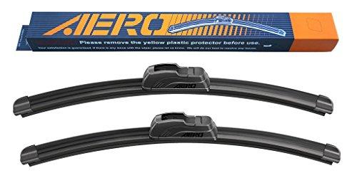 """41kQjHdk62L - OEM QUALITY 26"""" + 12"""" AERO Premium All-Season Frameless Windshield Wiper Blades (Set of 2)"""