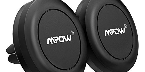 41eHDykWFHL - Mpow Air Vent Magnetic Car Phone Mount, Cell Phone Holder for iPhone 7/6S/6 Plus/5S/5,Google Pixel/Pixel XL/Nexus 6/6P, LG,HTC, Huawei, Black [2 PACK]