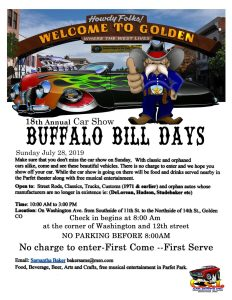 Buffalo Bill Days Car Show @ Golden, Colorado | Golden | Colorado | United States