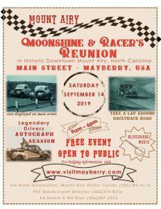 Moonshine & Racers Reunion @ Visit Mayberry NC | Mount Airy | North Carolina | United States
