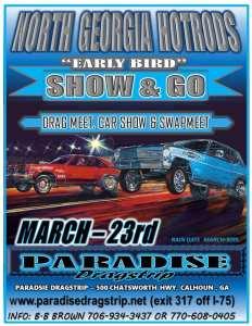 North Georgia Hot Rods Early Bird Show & Go @ Paradise Dragstrip   Calhoun   Georgia   United States