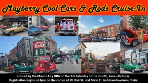 Mayberry Cool Cars & Rods Cruise-In @ Downtown Mount Airy | Mount Airy | North Carolina | United States