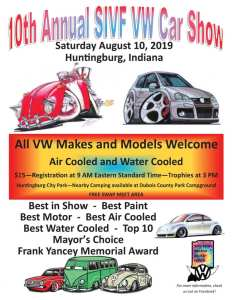 10th Annual SIVF VW Car Show @ Huntingburg | Indiana | United States