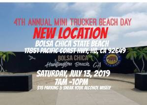 4th Annual Mini Trucker Beach Day @ Bolsa Chica State Beach | California | United States