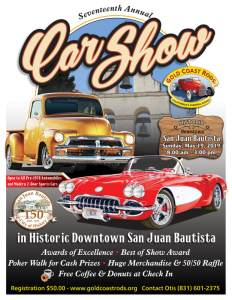 Gold Coast Rods Car Show @ San Juan Bautista | San Juan Bautista | California | United States