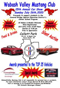 Wabash Valley Mustang Club 25th Annual Car Show @ Collett Park | | |