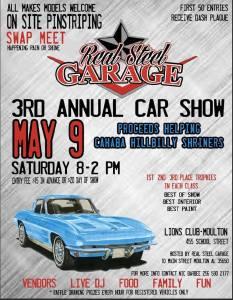 3rd Annual Real Steel Garage Car Show @ Moulton Lions Club   Moulton   Alabama   United States