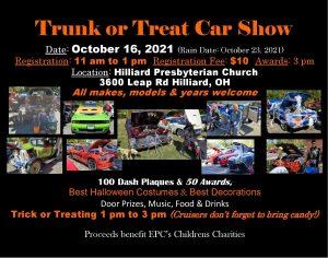 Trunk or Treat Car Show @ Hilliard Presbyterian Church   Hilliard   Ohio   United States