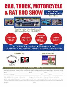 Patriot Rovers Car, Truck, Rat Rod, and Motorcycle Show @ American Legion Frank Road Post 34 | Rock Hill | South Carolina | United States