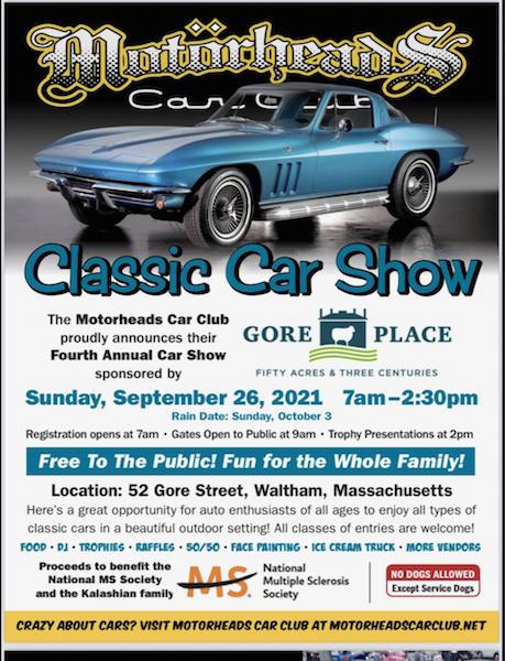 Motorheads 2021 Charity Car Show @ Gore Place   Waltham   Massachusetts   United States