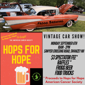Frogg Brewing Vintage Car Show @ Swanzey | New Hampshire | United States