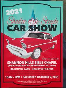 Shadow Of The Steeple Car Show @ Greensboro | North Carolina | United States