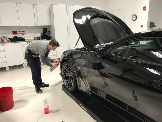 paint protection film front fender application
