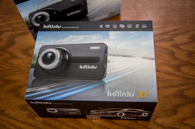 KDLINKS X1 Full HD Dash Cam Boxed Up