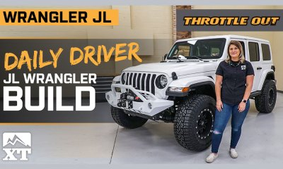 Trail-ready White JLU Wrangler