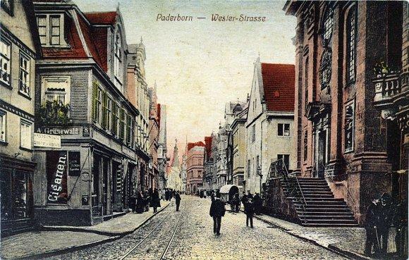 Ansichtskarte Paderborn Westernstraße