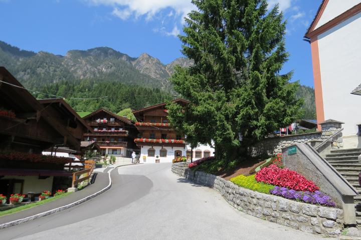 Una vista del precioso pueblito de Alpbach