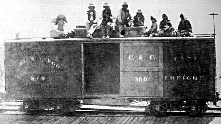 C&C pipe boxcar