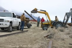 Track laying March 2009.