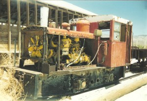 This little Plymouth and dump car probably came from the salt railway out at Saltus, CA in the Mohave.