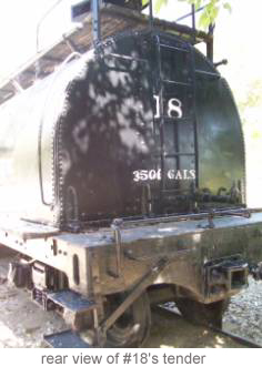 Rear view of #18's tender