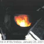 Fire in #18s firebox, January 25, 2001