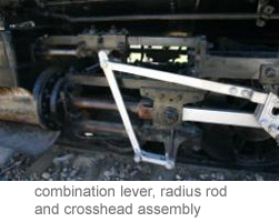 combination lever, radius rod and crosshead assembly
