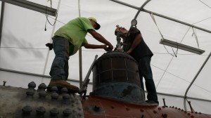 Dave and Forrest working on capping the safety valves