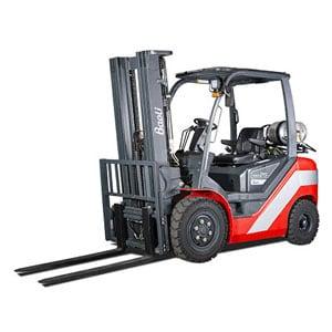 Baoli Internal Combustion Counterbalanced Pneumatic Tire Truck Linde Forklift Carson Material Handling