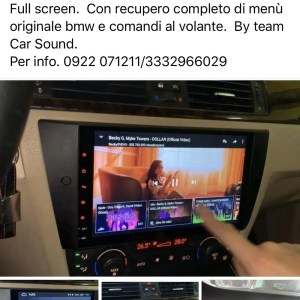 CARTABLET POSIZIONE  BASSA    BMW SERIE 3  E90 91 92 93  9.0 4G FULL HD DAB