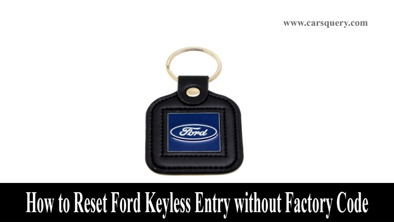 Reset Ford Keyless Entry without Factory Code