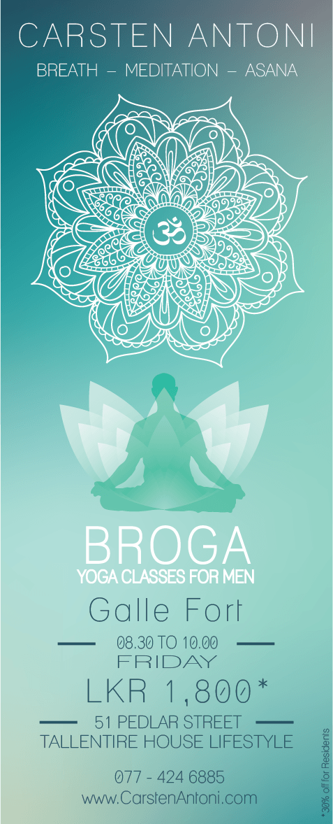 First Ever Broga Classes @ Galle Fort | Fri | 8.30 - 10.00 | Pedlar St. 51 | Tallentire House Lifestyle Shop