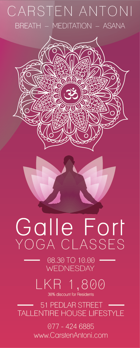 Yoga Classes @ Galle Fort | Wed | 8.30 - 10.00 | Pedlar St. 51 | Tallentire House Lifestyle Shop