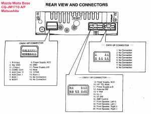 Car Audio Wire Diagram Codes Mazda  Factory Car Stereo