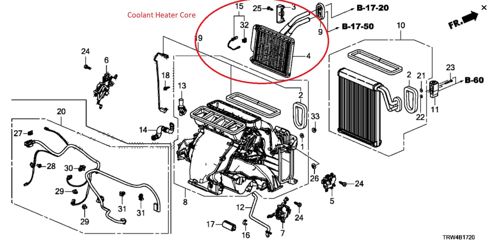 Honda Clarity Heater