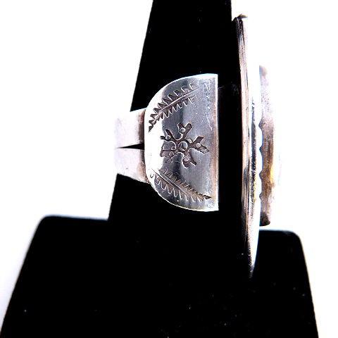 Native American Vintage Pawn Turqouise Ring