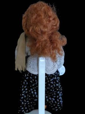 Vintage collectible handmade limited edition Rebecca doll by Heidi Plusczok