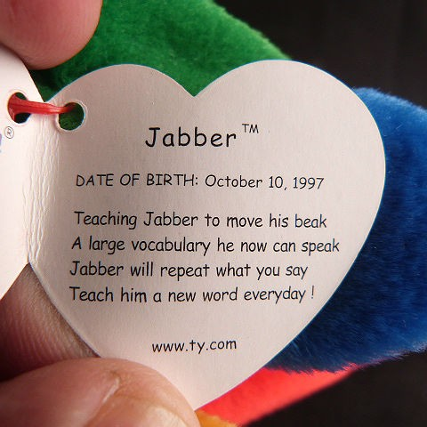 Jabber Ty Beanie Baby