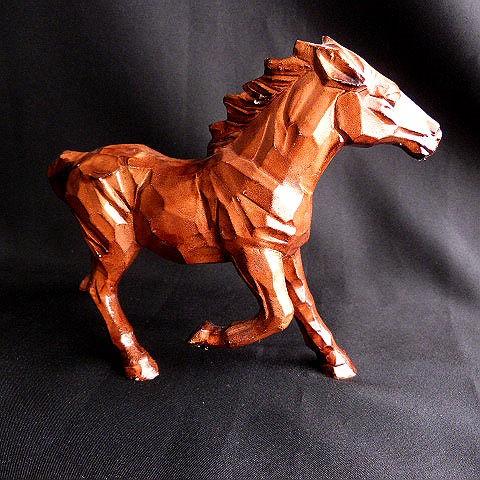Brown Ceramic Wood Look Horse