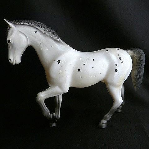 Plastic Diamond P Appaloosa Horse Figurine