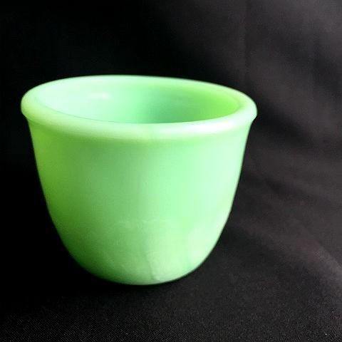 McKee Jadite Skokie Green Custard Cup
