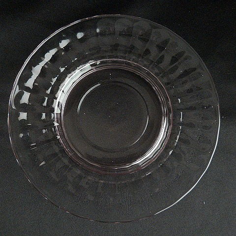 Hocking Glass Block Optic Pink Saucer