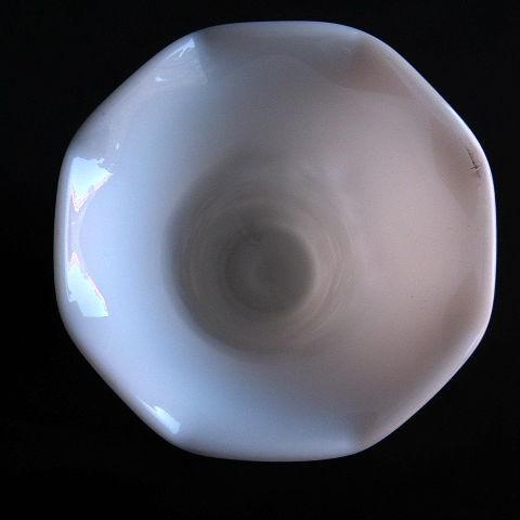 Milk Glass Vase, Starburst by Hazel Atlas