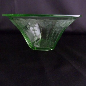 Depression Glass Green Bowl