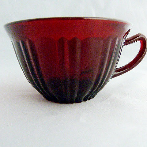 Ruby Red Depression Glass Cup