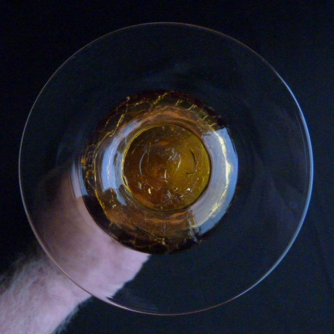 Vintage Hand Blown Amber Vase