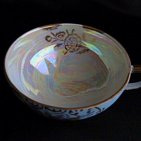 Vintage Blue Lusterware Cup